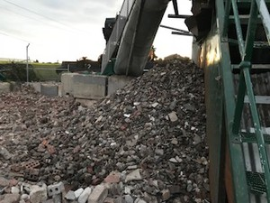 rubble recycling from Demolition Site
