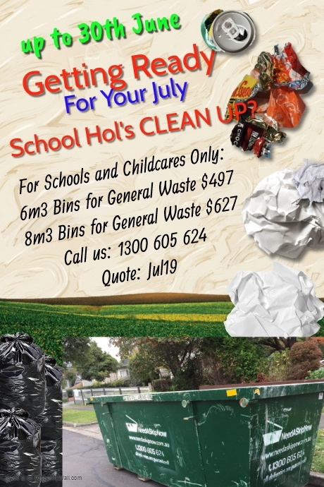 Skip Bin Hire Specials for Schools and Childcares